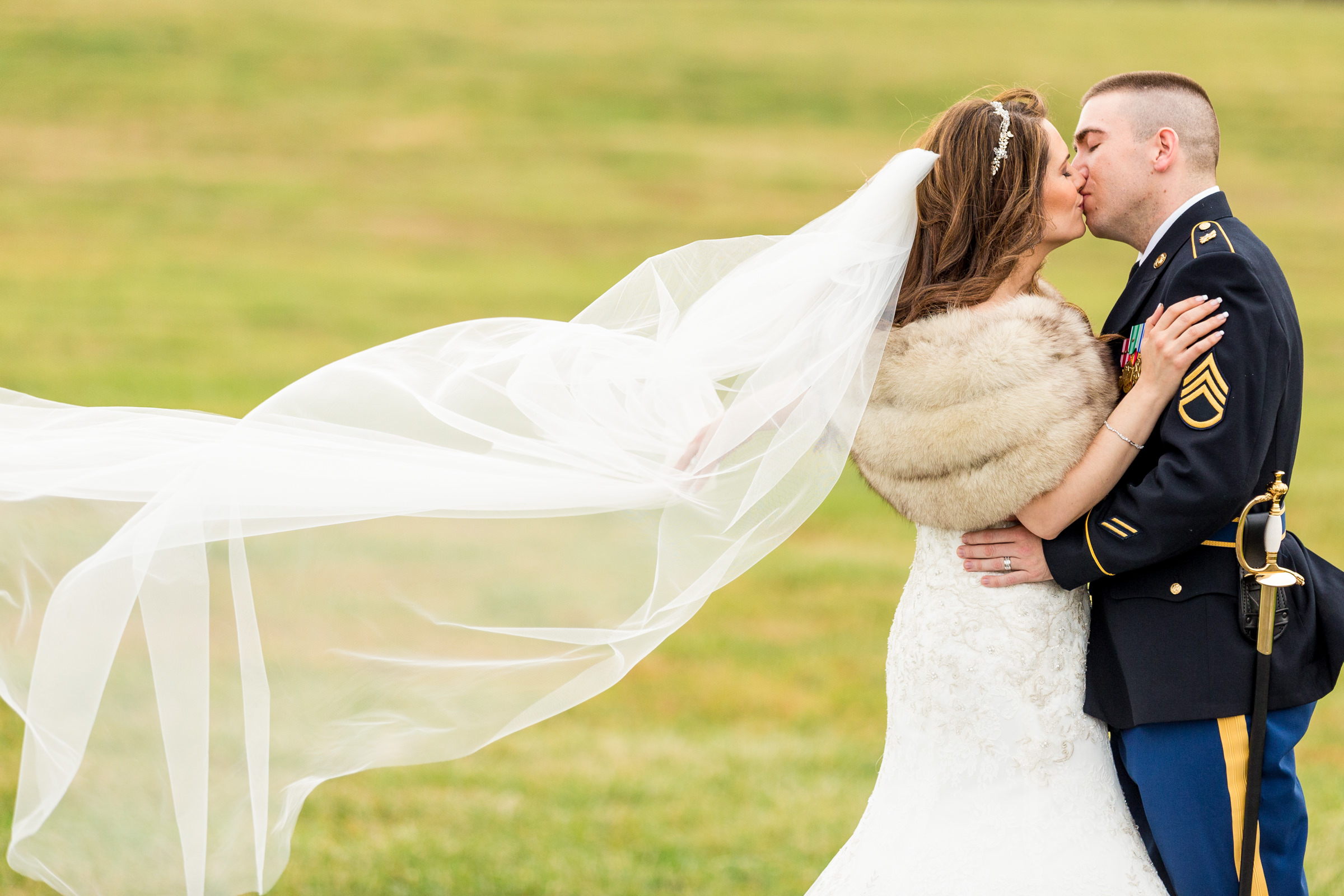 Outdoor couple kiss - photo by Procopio Photography