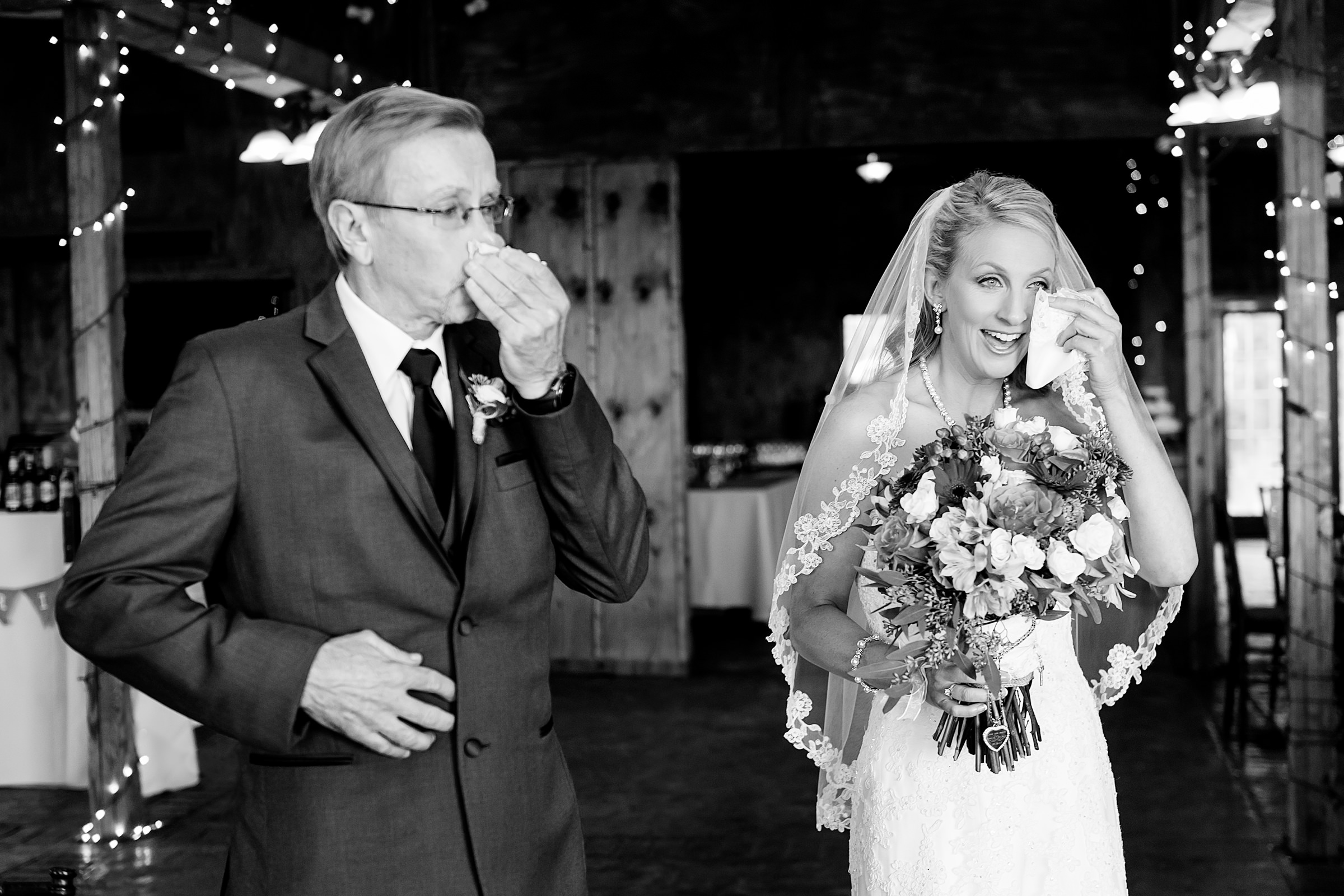 Tearful moment for bride and father - photo by Procopio Photography