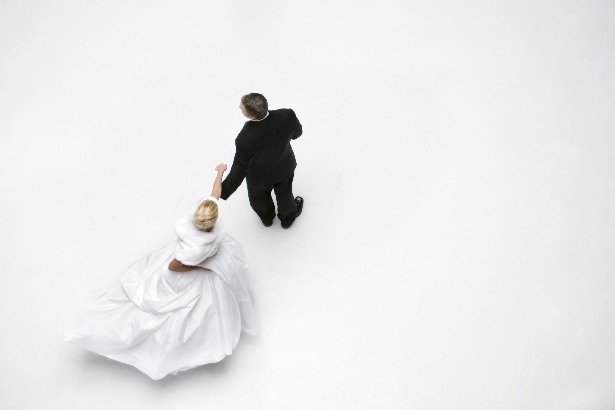 Aerial view of couple dancing - photo by Amy and Stuart Photography