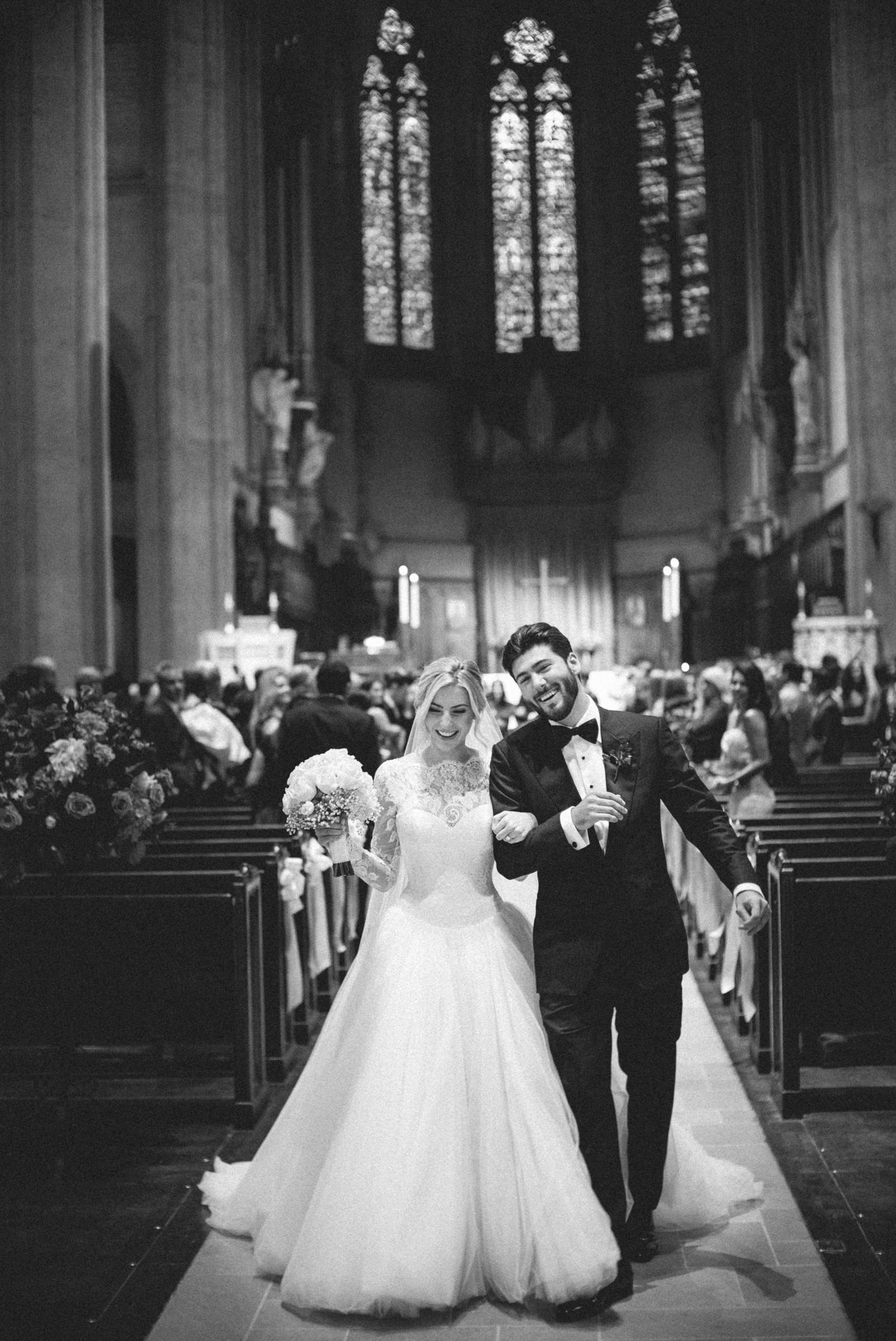 Wedding recessional - photo by Amy and Stuart Photography