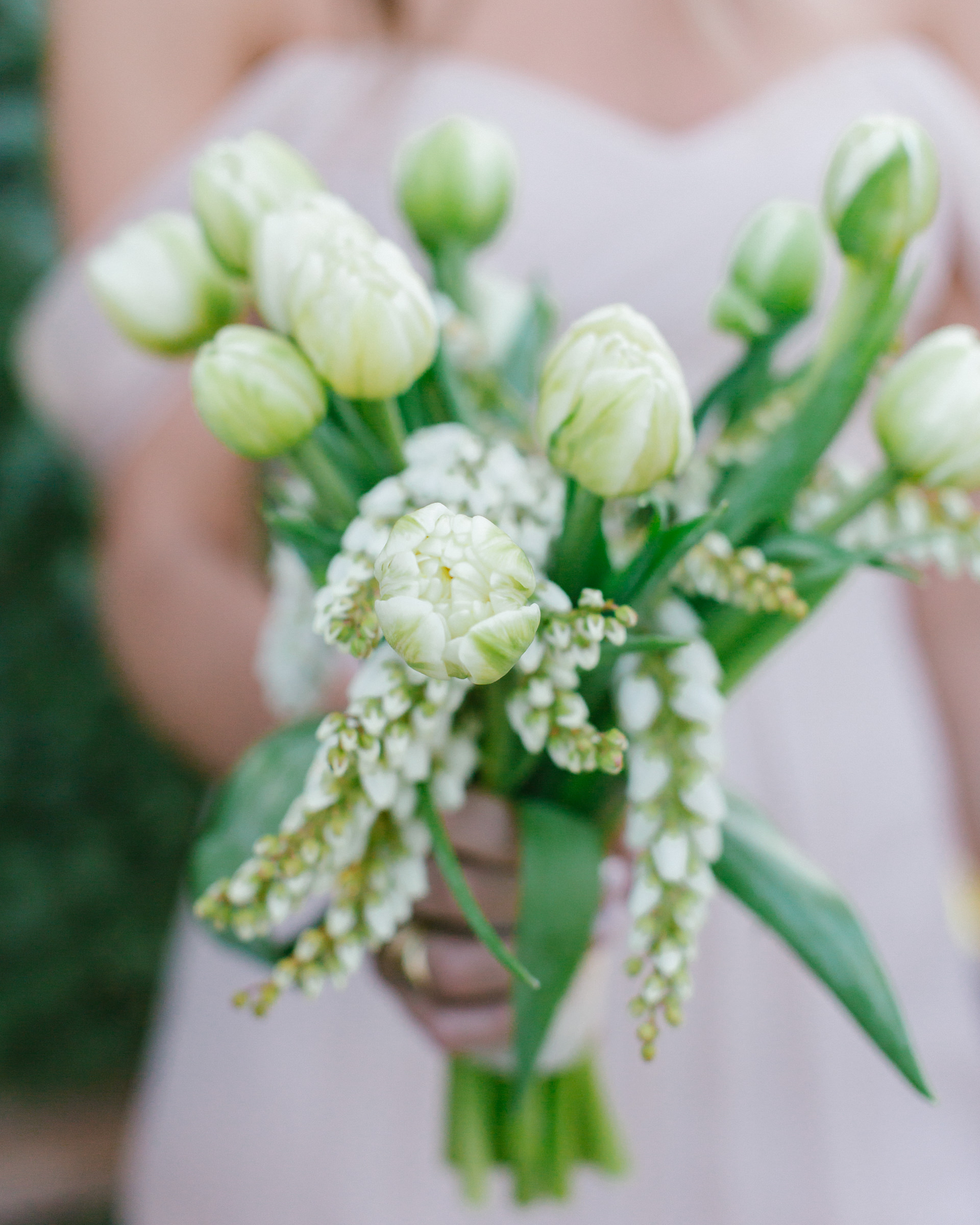 Closeup of white bridal bouquet- photo by Amy and Stuart Photography