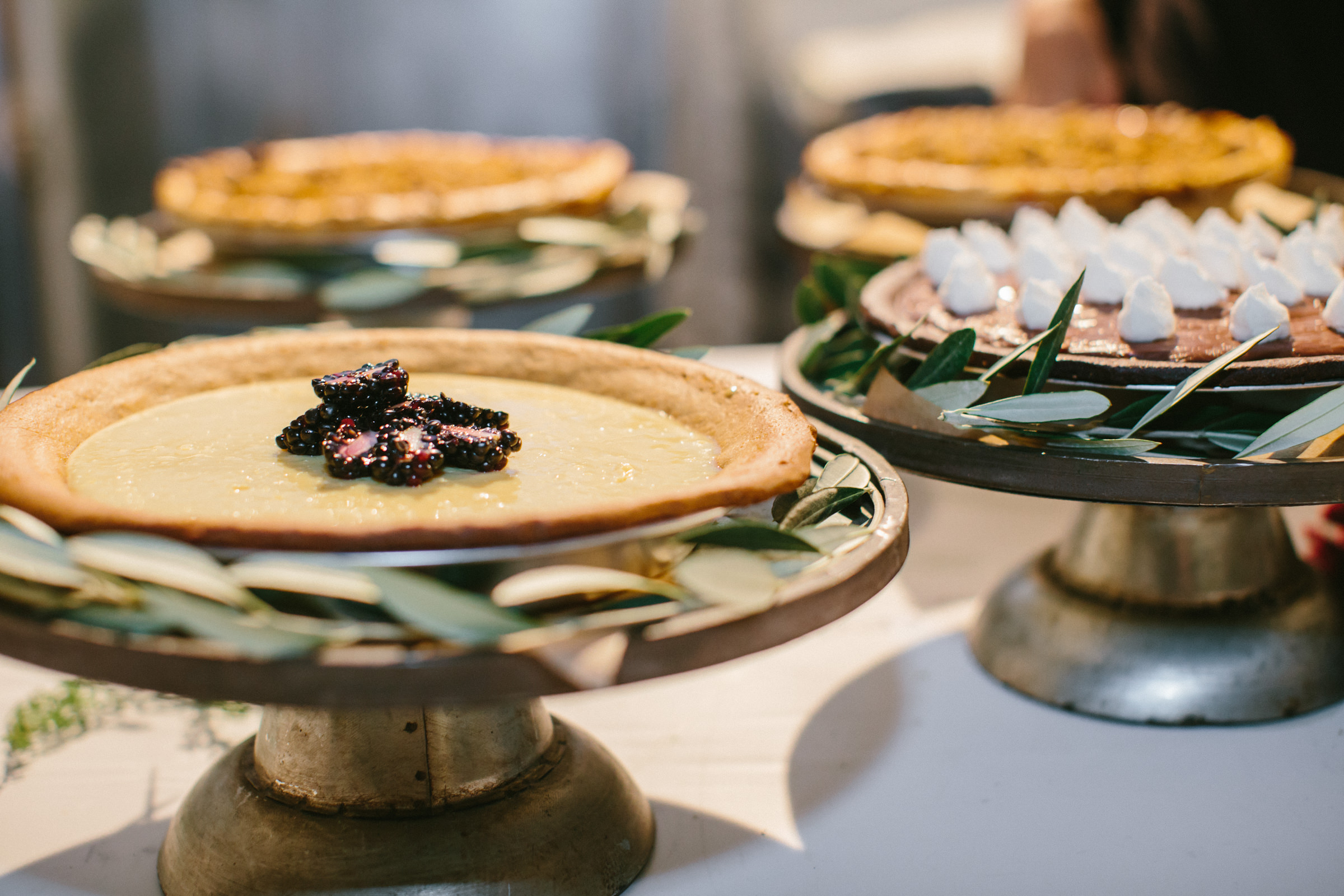 Sumptuous pies - photo by Amy and Stuart Photography