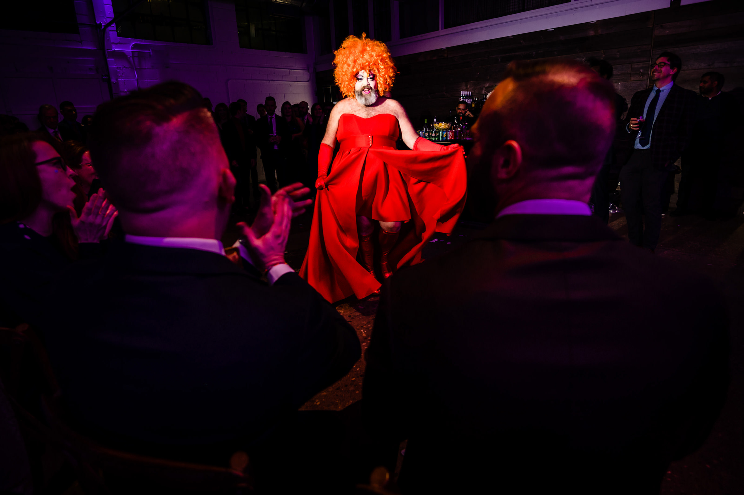 Drag queen performs - photo by Moore Photography