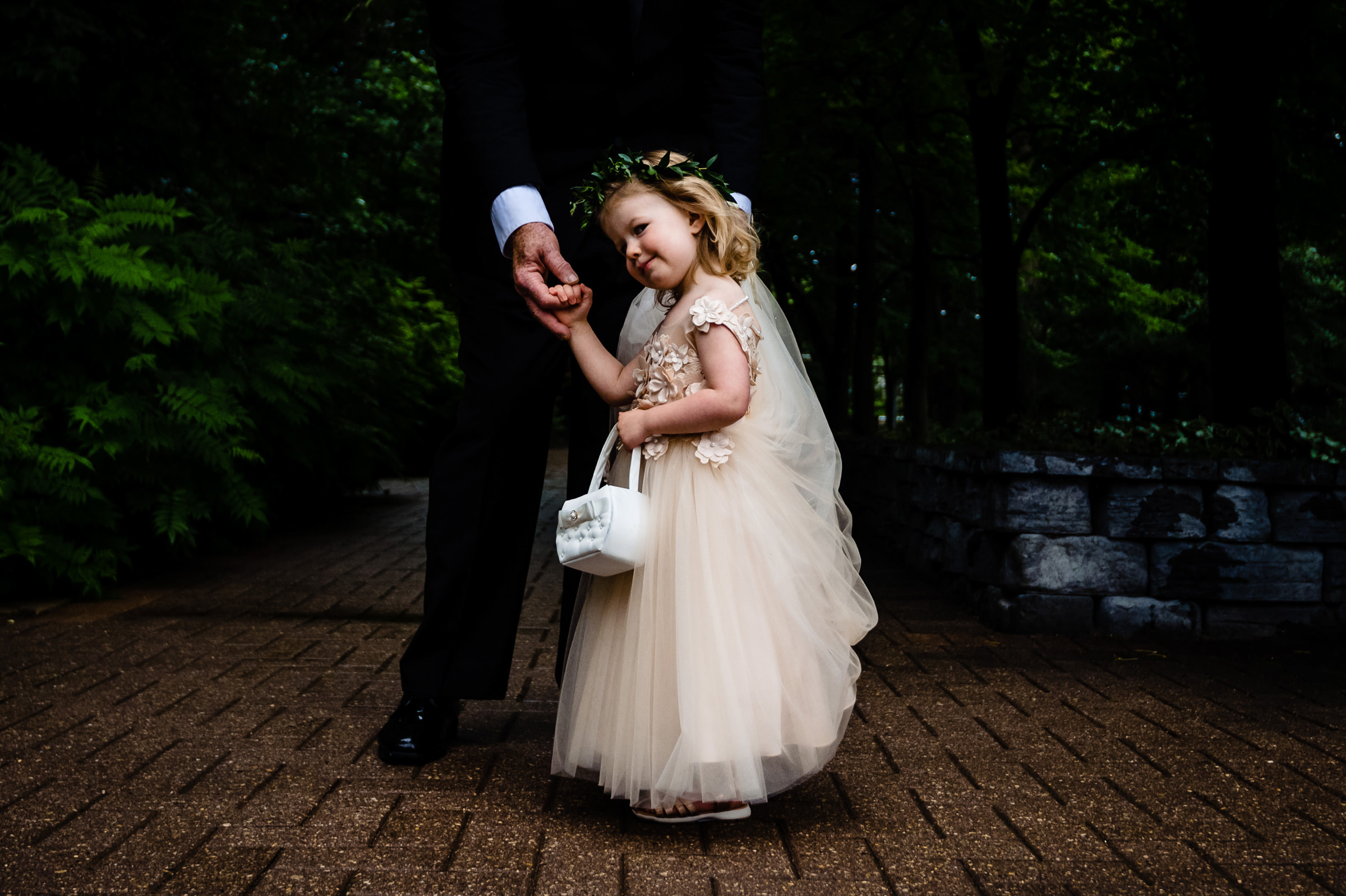 Sweet flower girl with basket - photo by Moore Photography