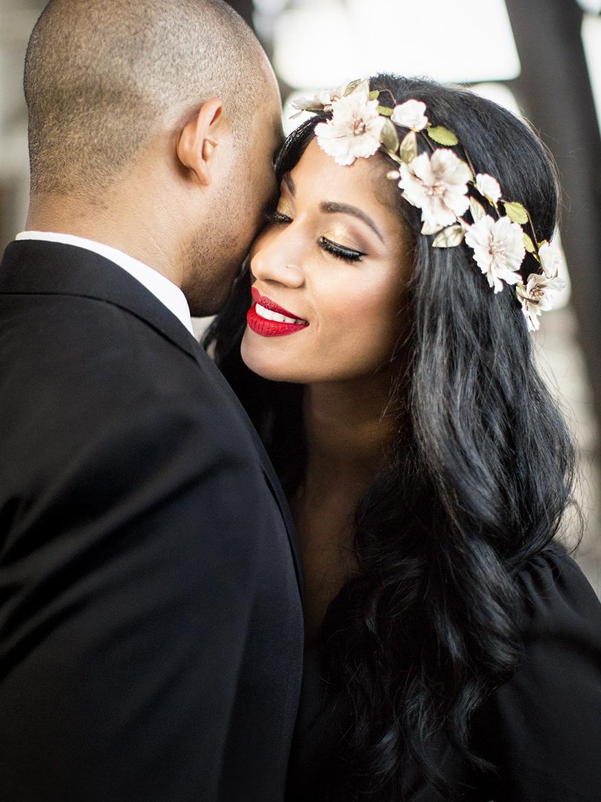 Couple portrait featuring bride - photo by Anna Schmidt Photography