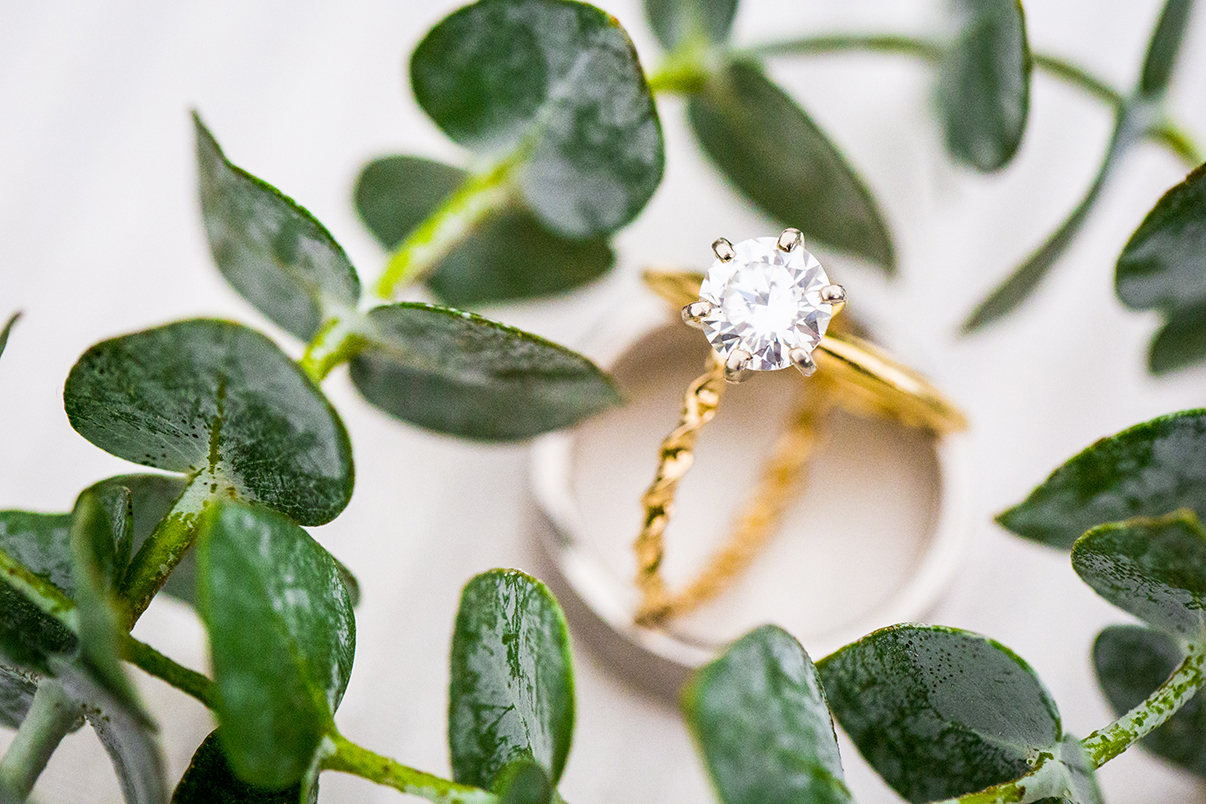 Diamond ring detail shot - photo by Anna Schmidt Photography