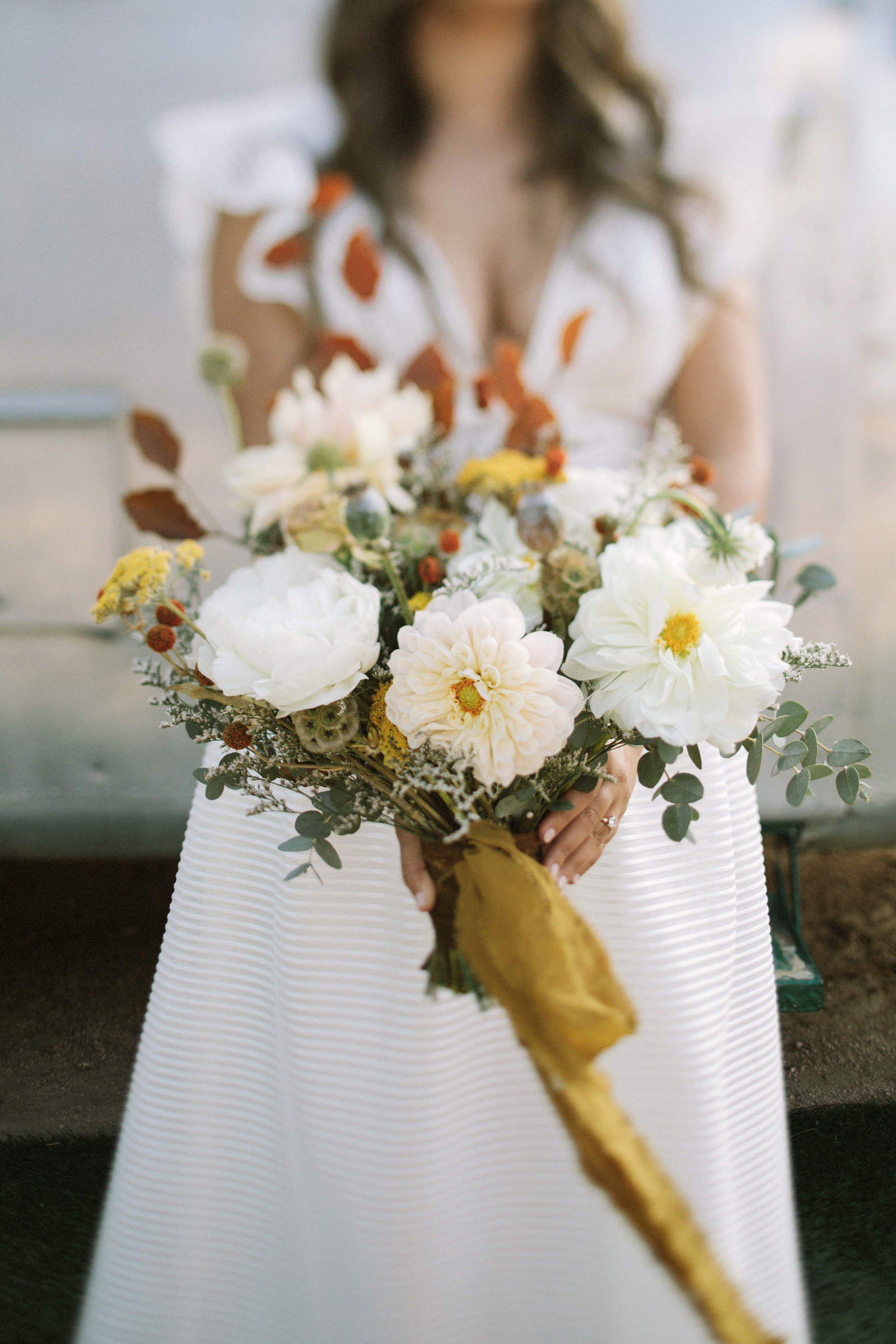 Bride featuring splendid floral bouquet - photo by Jonas Seaman Photography