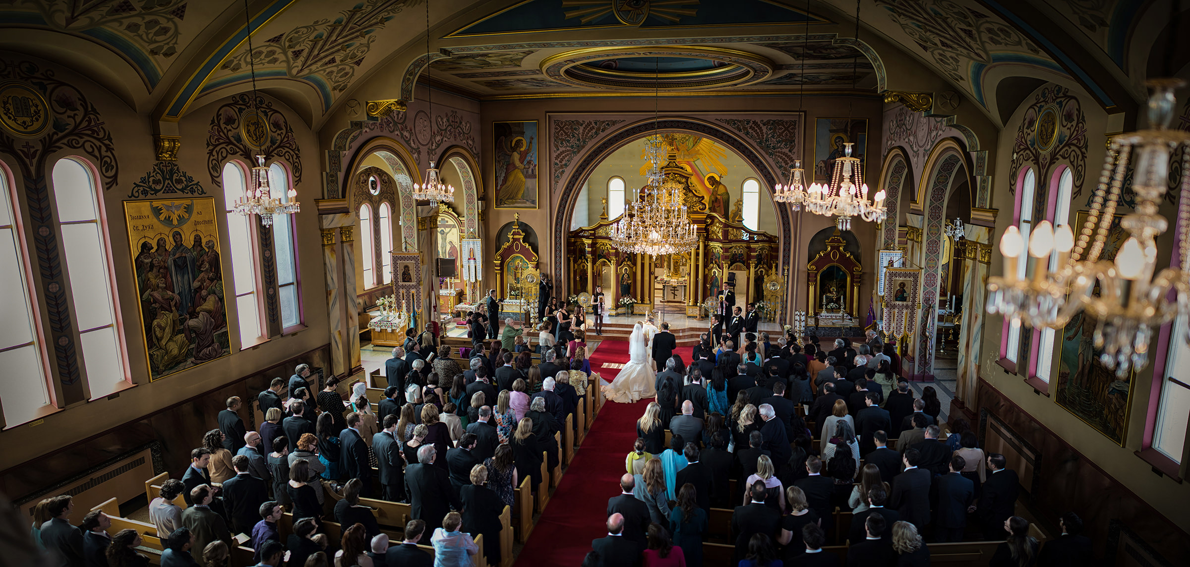 Greek Orthodox Church St. Georges's balcony view of ceremony - photo by David & Sherry Photography