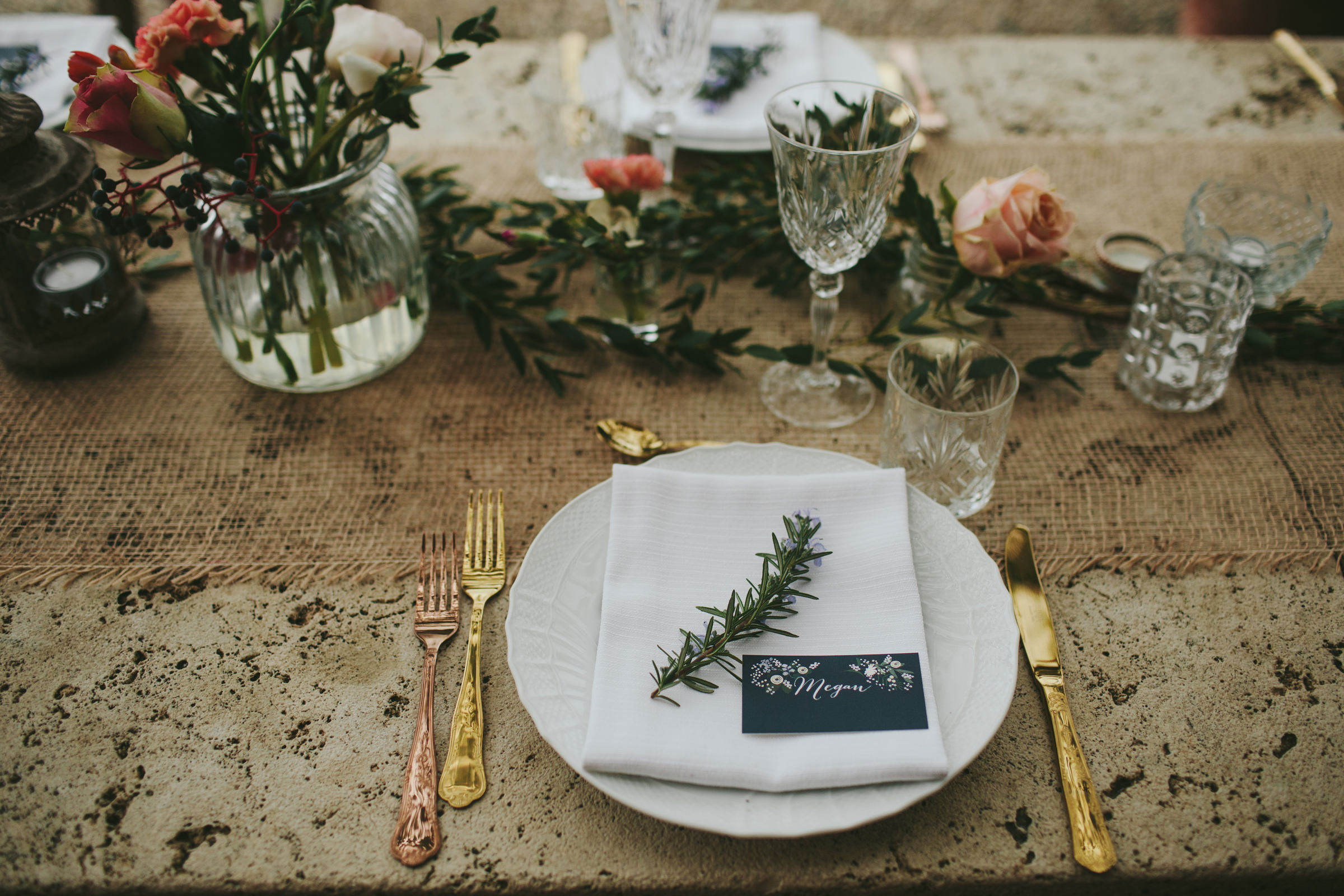 Detail of place setting - photo by Melia Lucida
