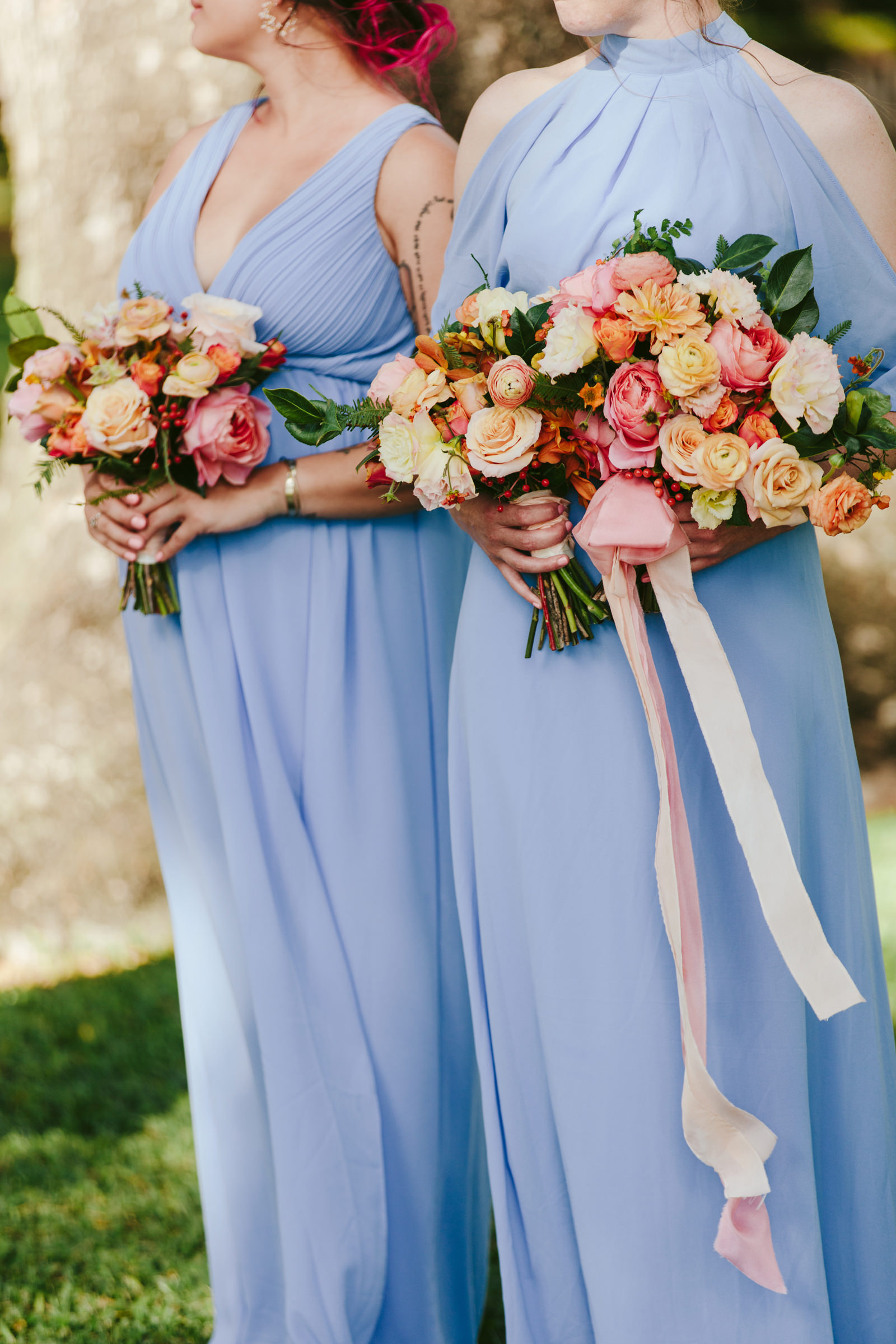 Beautiful peony and rose bouquets - photo by Melia Lucida