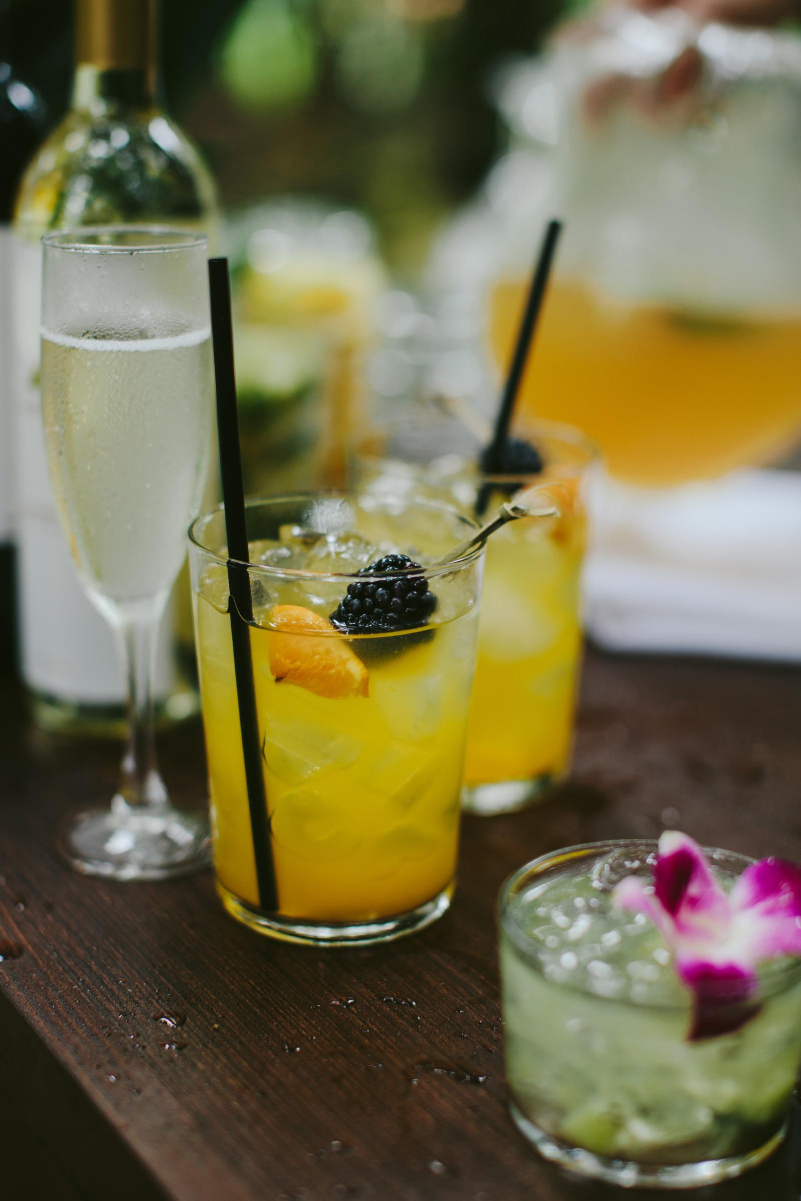 Tropical drinks at haiki mill maui - photo by Melia Lucida