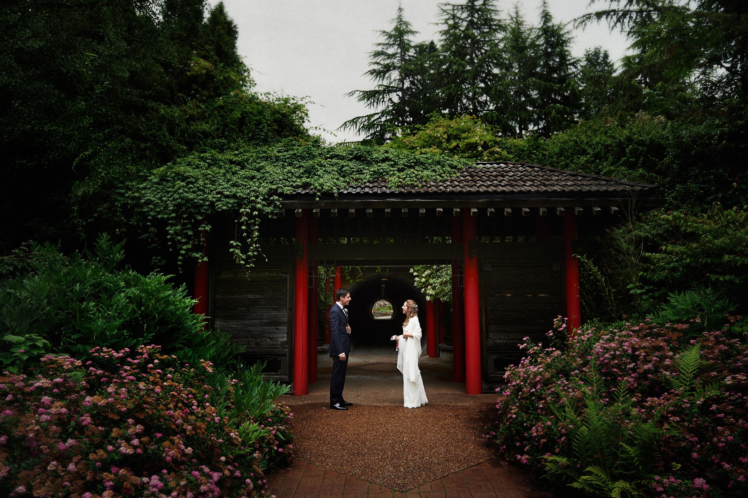 Couple at botanical garden - photo by Jozef Povazan Photography
