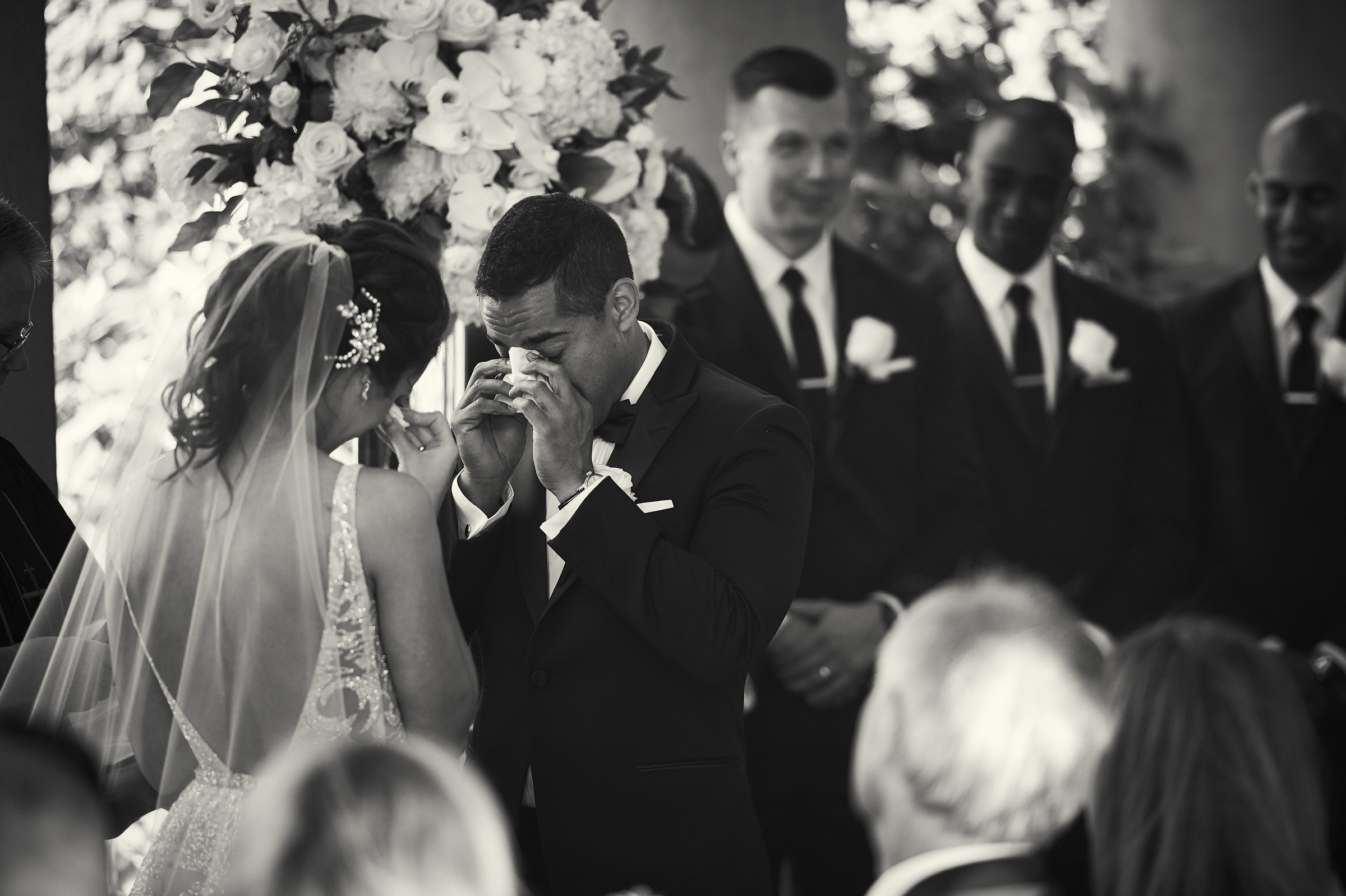 Tearful bride and groom - photo by Jozef Povazan Photography