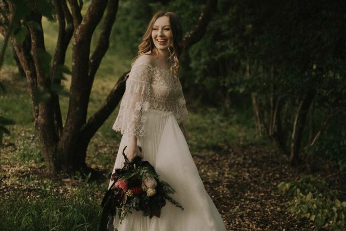 Ethereal bridal portrait by Dan O'Day