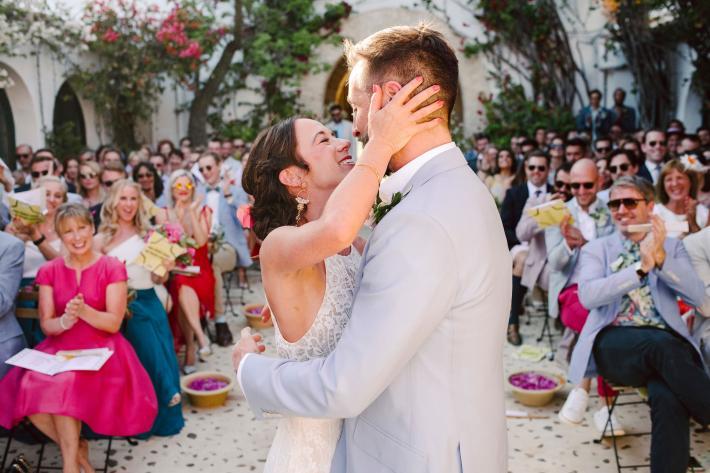 Just married couple at Hacienda de san Rafael near Seville - photo by Rich Howman
