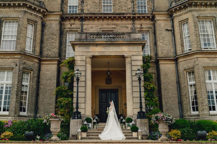 Hedsor House entrance bridal portrait photographed by Ash Davenport