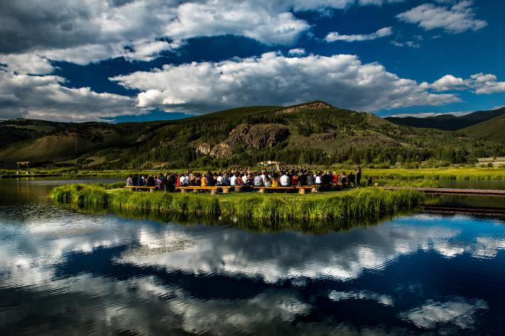 ceremony-setting-at-camp-hale-with-sky-reflection-in-lake-photo-by-j-la-plante-photo