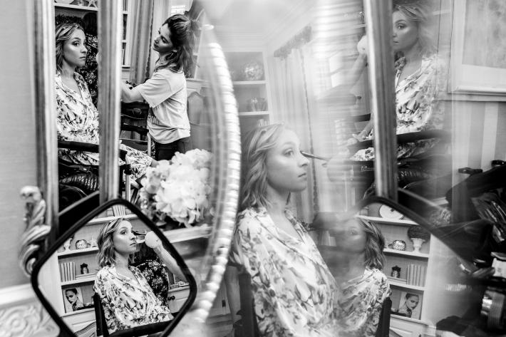 multiple-reflections-of-bride-having-makeup-applied-jeff-tisman-photography